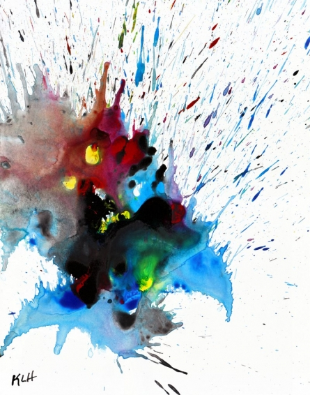 Color Splash IV | Painting by artist Kris Haas | other | Paper