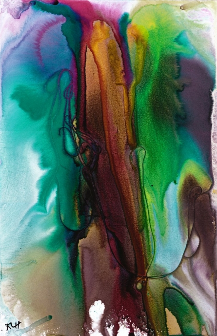 Fluidity Painting Series 4040.022415 | Painting by artist Kris Haas | other | Paper