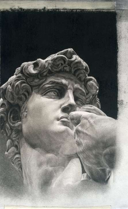David Statue Drawing | Drawing by artist Shobha Sharma |  | charcoal | Paper