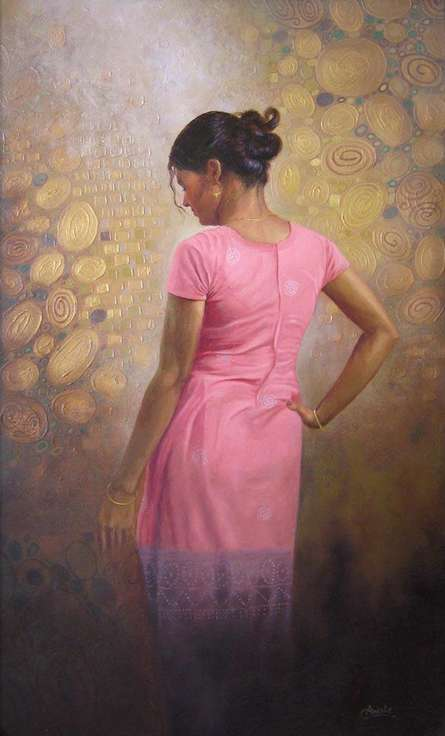 Woman | Painting by artist Baburao (amit) Awate | oil | Canvas
