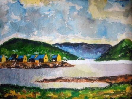 Landscape | Painting by artist Priyanjali Bhattacharya | watercolor | Handmade Paper
