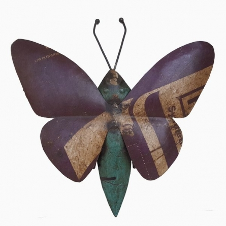Wall Mount Butterfly | Craft by artist Dekulture Works | Recycled Iron
