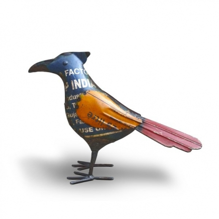 Recycled Iron Bird | Craft by artist Dekulture Works | Recycled Iron