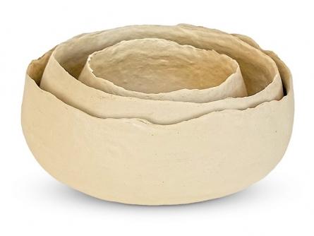 Paper Mache Bowl (Set of 3) | Craft by artist De Kulture Works | Paper