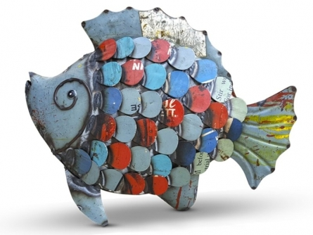 Dekulture Works | Recycled Iron Fish Craft Craft by artist Dekulture Works | Indian Handicraft | ArtZolo.com