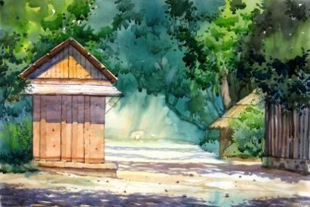 Landscape 1 | Painting by artist Vinayak Potdar | watercolor | Paper
