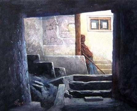 Landscape 12 | Painting by artist Vinayak Potdar | watercolor | Paper