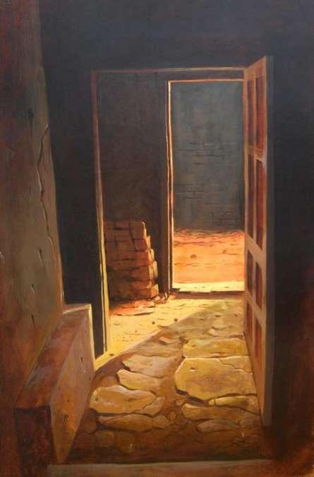 Cityscape Watercolor Art Painting title Landscape 13 by artist Vinayak Potdar