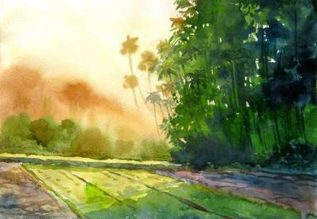 Landscape 5 | Painting by artist Vinayak Potdar | watercolor | Paper