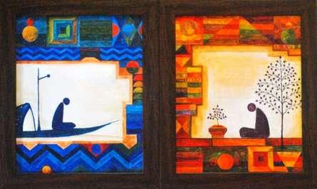 Untitled (Set of 2)   Painting by artist Ishani Pimpalkhare   acrylic   Canvas