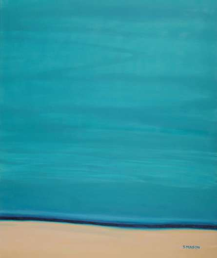 Calm Beach. | Painting by artist SIMON MASON | oil | Canvas