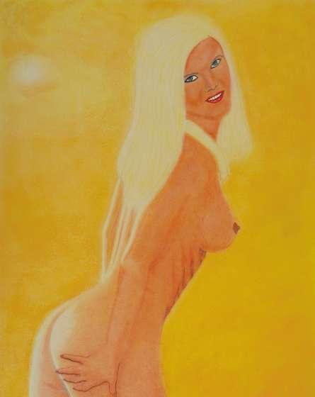Nude Dry-pastel Art Painting title Christine 2 by artist SIMON MASON