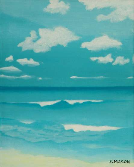Seascape Oil Art Painting title 'Gone To The Beach' by artist SIMON MASON