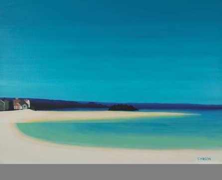 Seascape Oil Art Painting title Marizion Beach by artist SIMON MASON