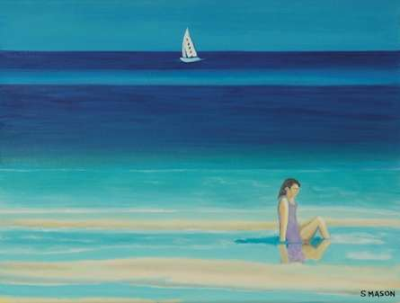On The Beach. | Painting by artist SIMON MASON | oil | Canvas