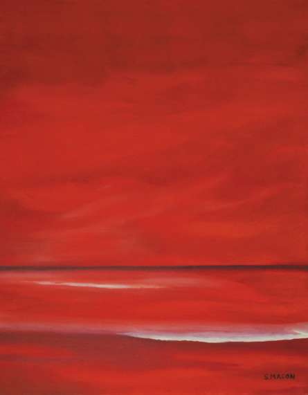 Red Sky.   Painting by artist SIMON MASON   oil   Canvas
