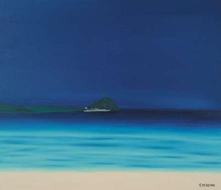 Seascape Oil Art Painting title St Michaels Mount 1 by artist SIMON MASON