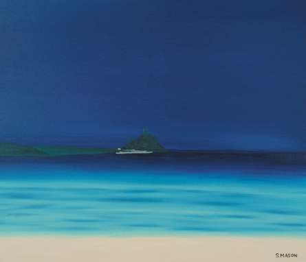 St Michaels Mount 1. | Painting by artist SIMON MASON | oil | Canvas