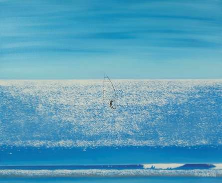 Surfing On Diamonds. | Painting by artist SIMON MASON | oil | Canvas
