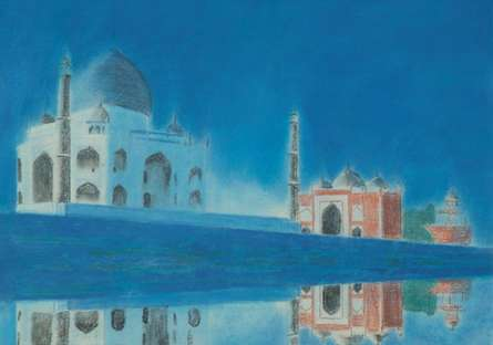 Taj. | Painting by artist SIMON MASON | dry-pastel | Board