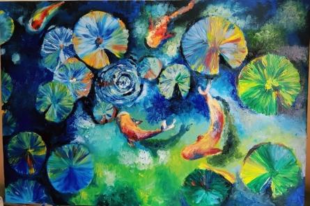 20160829 105427 | Painting by artist Nandini Gupta | oil | Oil