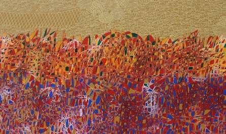 Cityscape Acrylic Art Painting title 'Cityscape 10' by artist Rama Krishna V