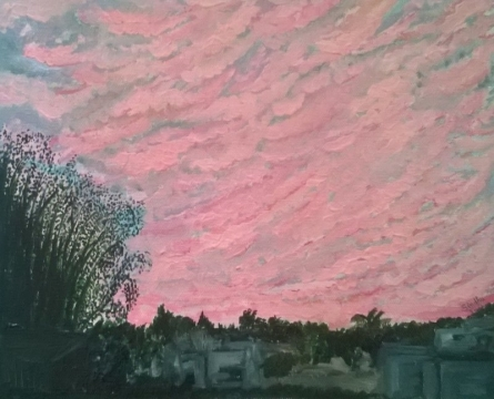 Sunrise In The City | Painting by artist Sindhulina Chandrasingh | oil | Canvas