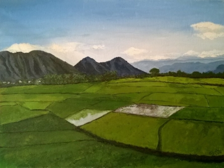 A Blue Sky And A Gentle Breeze | Painting by artist Sindhulina Chandrasingh | acrylic | Canvas