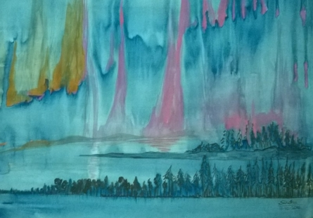 A far away place | Painting by artist Sindhulina Chandrasingh | watercolor | Paper