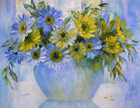 My Flowers 16 | Painting by artist Swati Kale | oil | Canvas