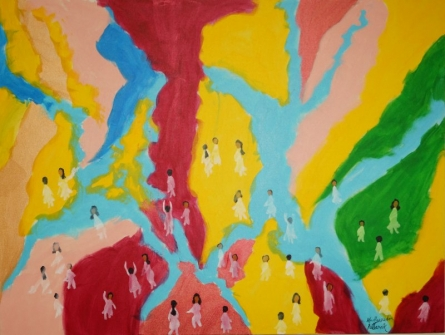 Holi-1 | Painting by artist Madhusudan Pattanaik | acrylic | canvas