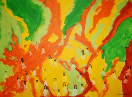 Holi-2 | Painting by artist Madhusudan Pattanaik | acrylic | canvas