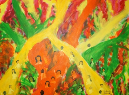 Holi 3 | Painting by artist Madhusudan Pattanaik | acrylic | canvas