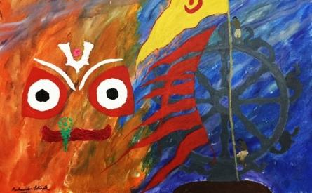 Lord Jagannath | Painting by artist Madhusudan Pattanaik | acrylic | Canvas Board