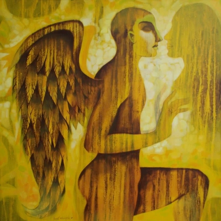 Eternal love(Sc 494 ) | Painting by artist Sunil Chawdiker | acrylic | Canvas