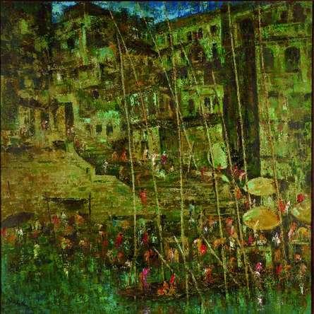 Upendra Nayak | Oil Painting title Nayak on Canvas | Artist Upendra Nayak Gallery | ArtZolo.com