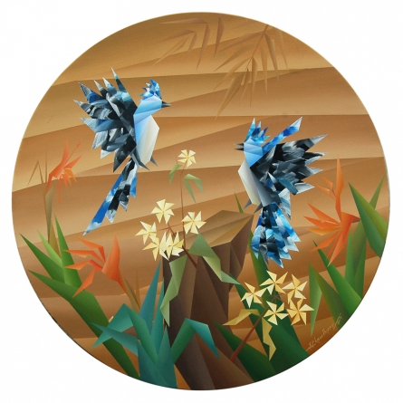 NIRAKAR CHOWDHURY | Acrylic Painting title Similarity on Canvas | Artist NIRAKAR CHOWDHURY Gallery | ArtZolo.com
