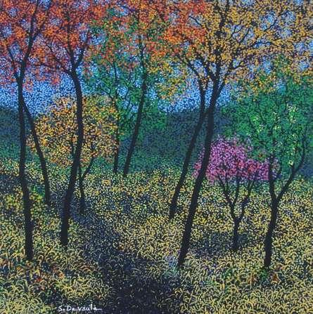 Landscape Acrylic Art Painting title 'Landscape 10' by artist Sanjay Devsale
