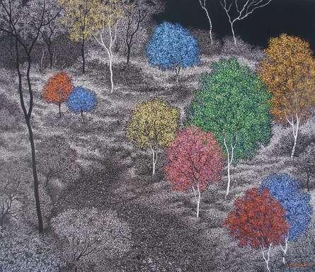 Landscape 1 | Painting by artist Sanjay Devsale | acrylic | Canvas