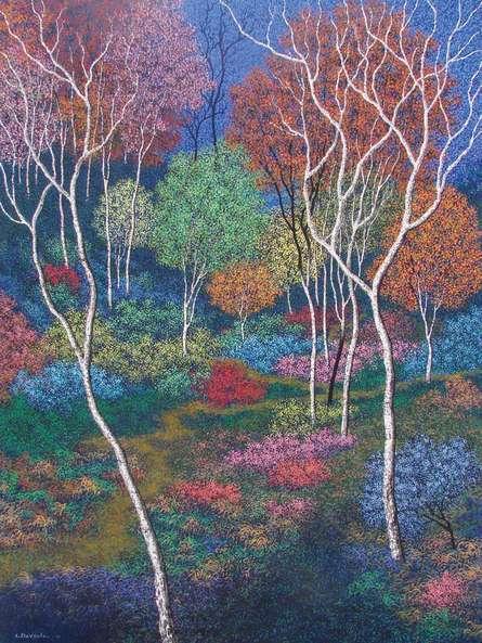 Landscape 2 | Painting by artist Sanjay Devsale | acrylic | Canvas