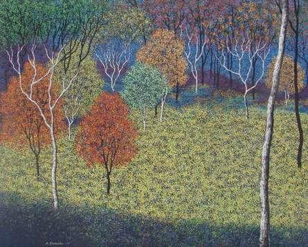 Landscape 5   Painting by artist Sanjay Devsale   acrylic   Canvas