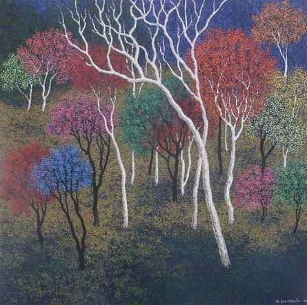 Landscape Acrylic Art Painting title Landscape 6 by artist Sanjay Devsale