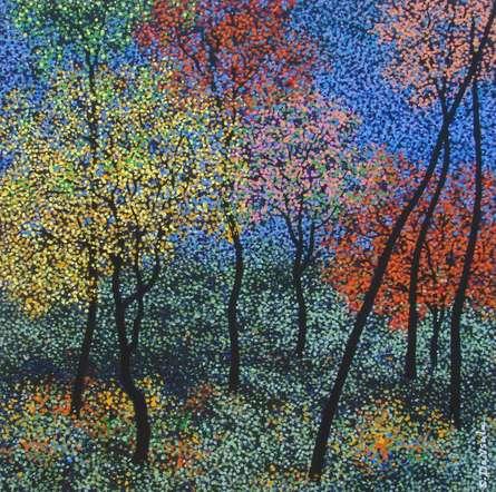 Landscape 7 | Painting by artist Sanjay Devsale | acrylic | Canvas