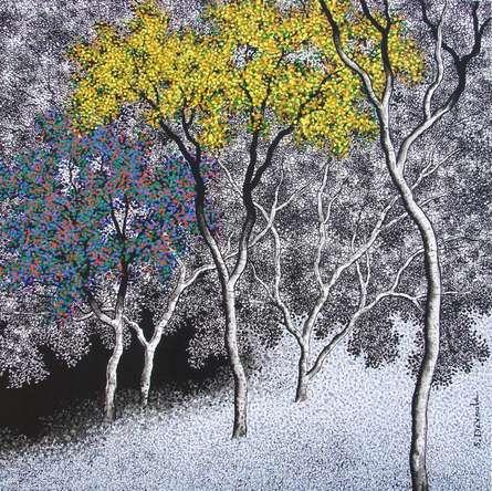 Nature Acrylic Art Painting title 'Nature 2' by artist Sanjay Devsale