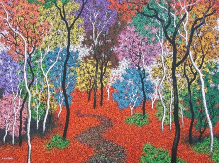 Nature Acrylic Art Painting title 'Nature 5' by artist Sanjay Devsale