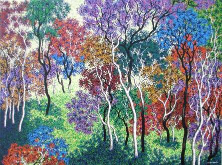 Nature Acrylic Art Painting title 'Nature 7' by artist Sanjay Devsale
