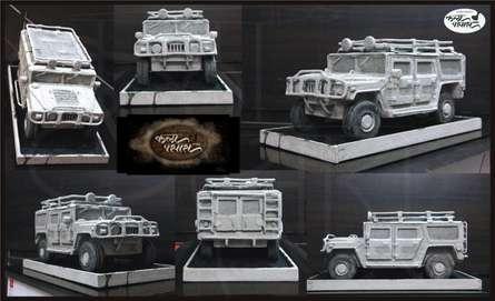 HUMMER H1 SCUPTURE | Hummer car sculpture Handicraft | By Pankaj Rathivadekar