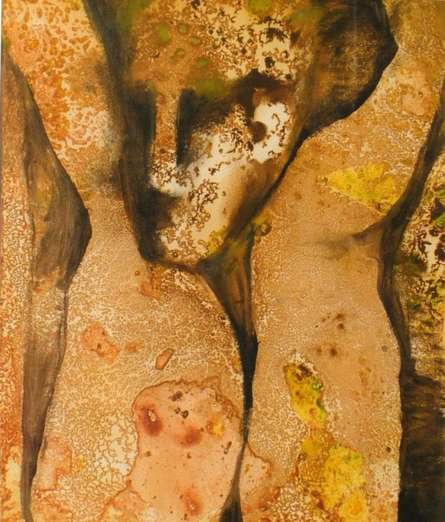 Untitled | Painting by artist NP Pandey | mixed-media | Paper