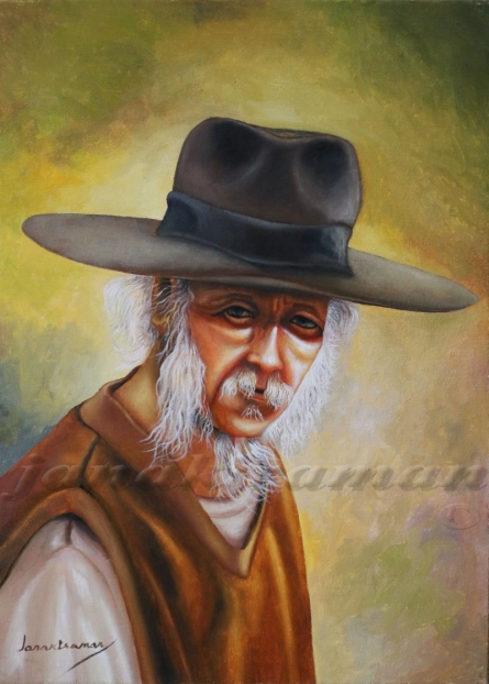 Portrait 1 Oil On Canvas 18x24 Inch | Painting by artist Janakiraman B | oil | Canvas