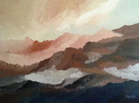 Landscape Acrylic Art Painting title 'Landscape S1' by artist Rashmi Pitre